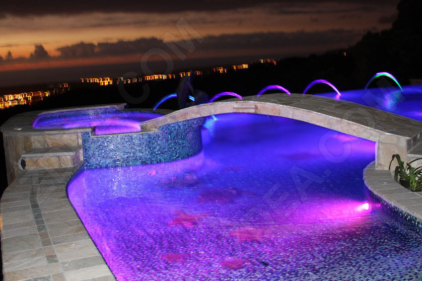 10 fiber optic pool lights