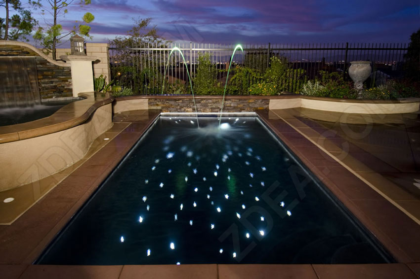 11 fiber optic pool lights