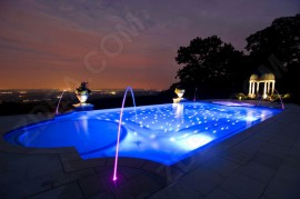 12 fiber optic pool lights