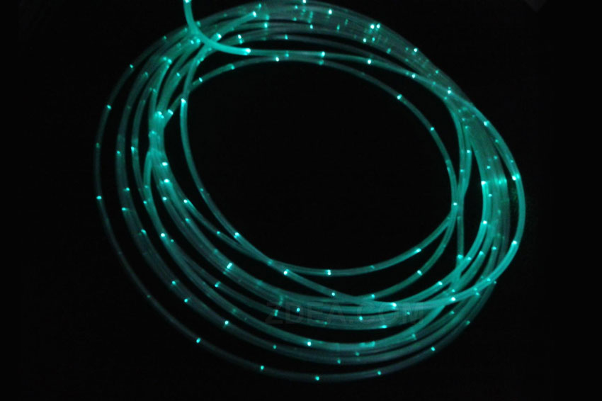 2 side glow fiber optic cable