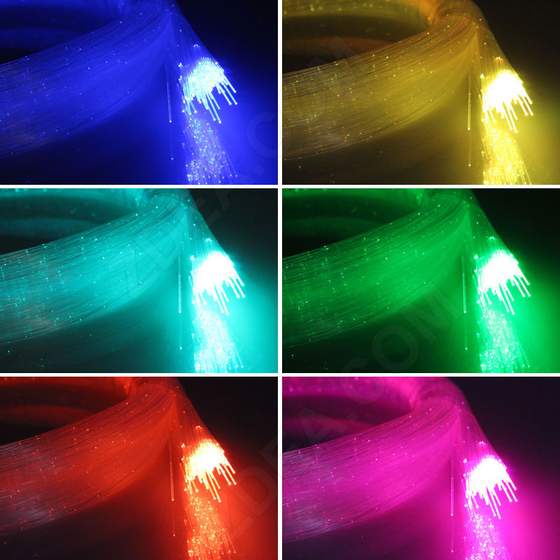 3 end glow fiber optic lighting cable dotting
