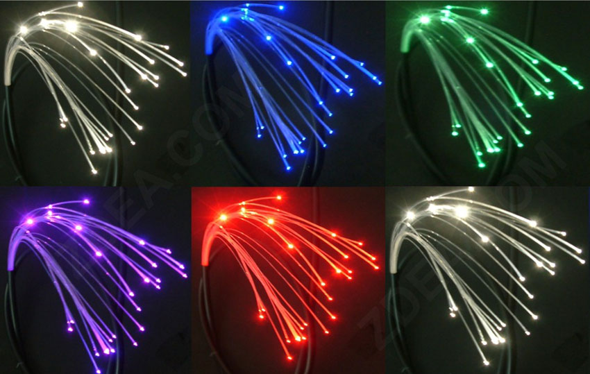3 end glow multicore fiber optic lighting cable