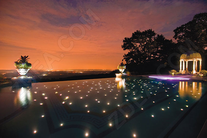 5 fiber optic pool lights