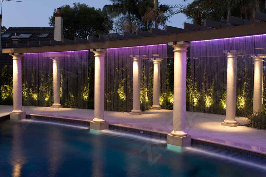 7 fiber optic pool lights