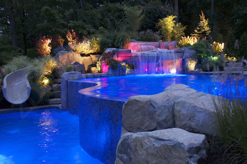 8 fiber optic pool lights