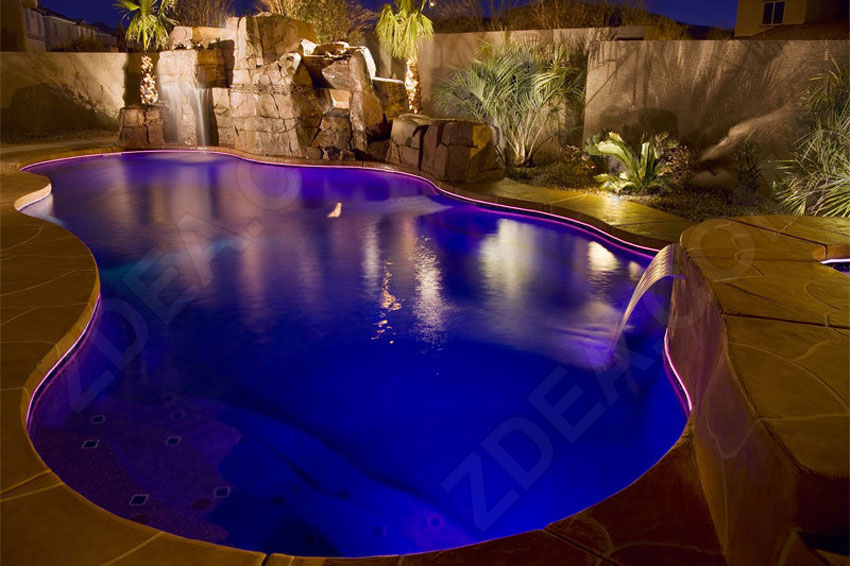 9 fiber optic pool lights